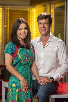 Shirlei ( Sabrina Petraglia ) e Felipe ( Marcos Pitombo ) em Haja Coração