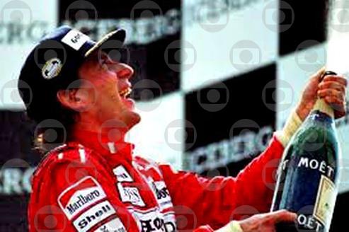 A primeira vitória de Senna em casa