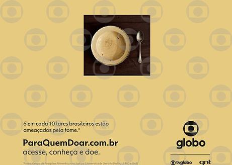 Globo promove conscientização sobre combate à fome